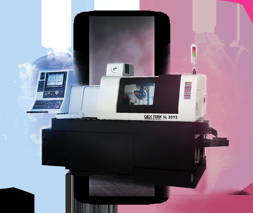 GEN TURN SL-20Y2 - CNC Lathe Turn Machine - Hybrid 20mm 8-Axis CNC Swiss Machine