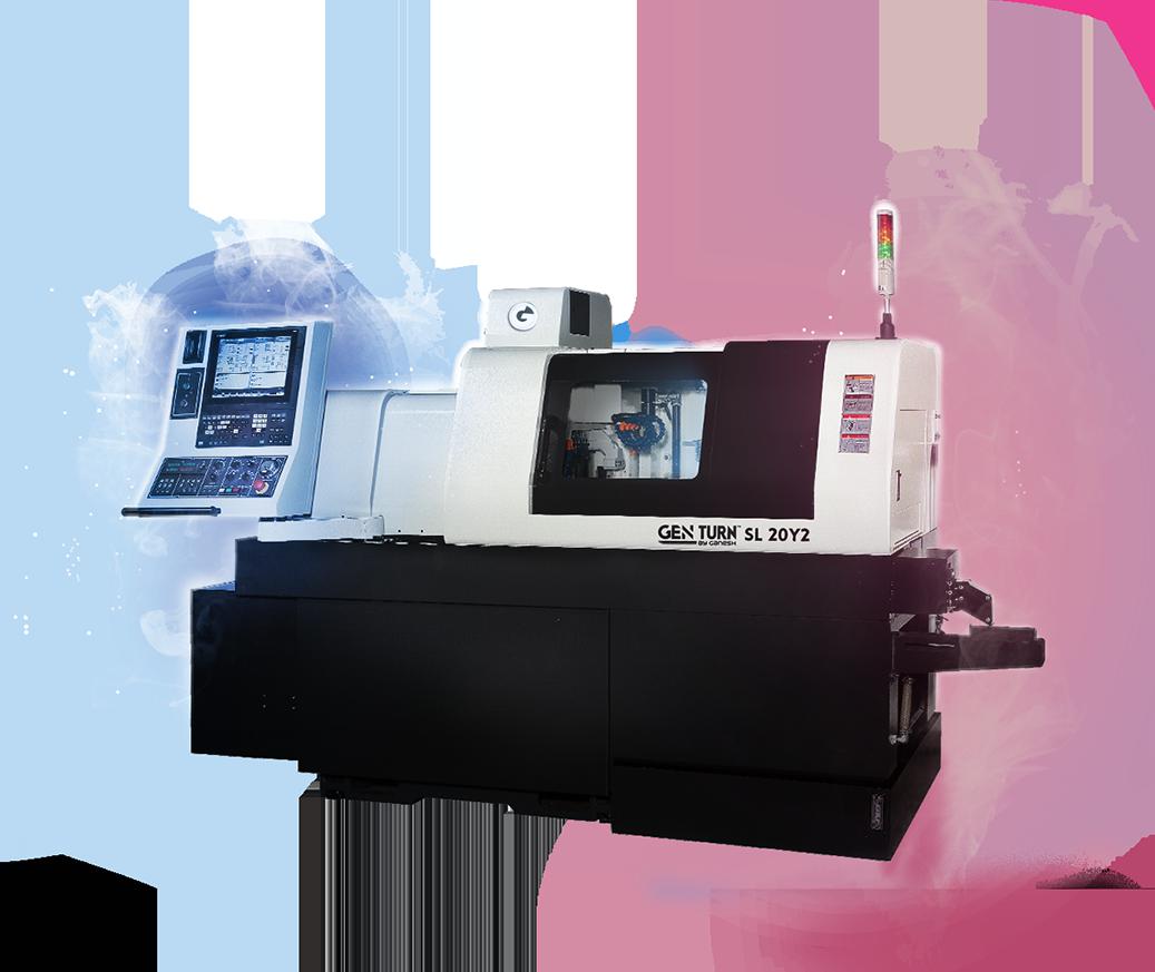 GEN TURN SL-20Y2 - CNC Swiss Lathe Turn Machine - Hybrid 20mm 8-Axis CNC Swiss Screw Machine