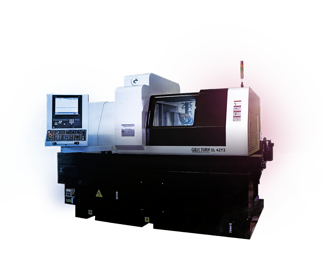 GEN TURN SL-42Y2 - CNC Swiss Lathe Turn Machine - Hybrid 42mm 8-Axis CNC Swiss Screw Machine