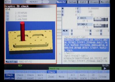 MILL2416 machine screen