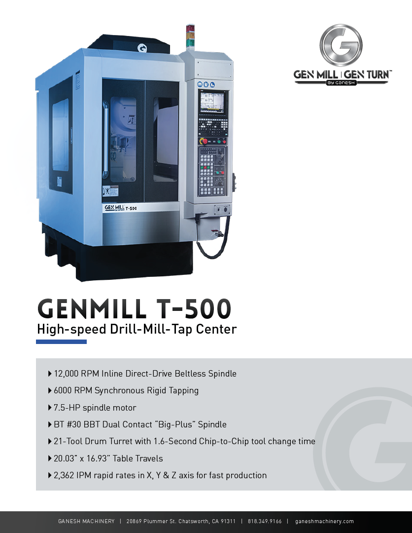 GENMILL T-500 Quote