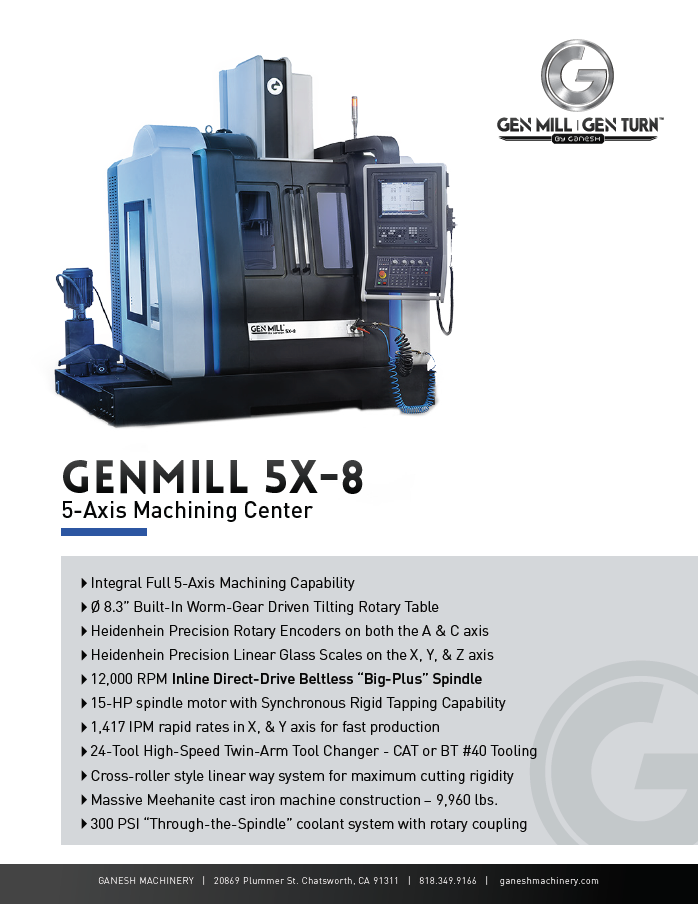 GENMILL 5X-8 Quote