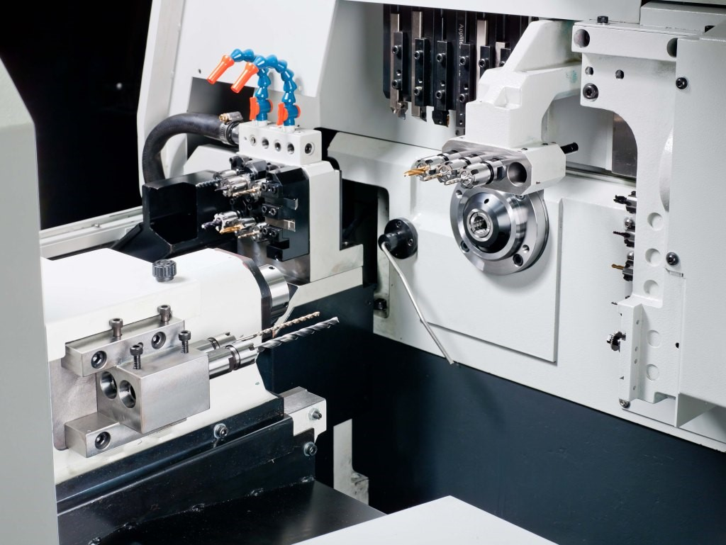 Inside Ganesh GEN TURN SL-20Y2 CNC Swiss Turn Machine