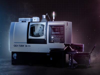 GEN TURN 32-CS 7-Axis CNC Swiss Machine without guide bushing