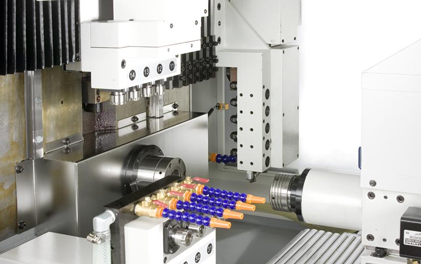 Interior View - Ganesh CNC Swiss Turn Machine - GENTURN 36-CS