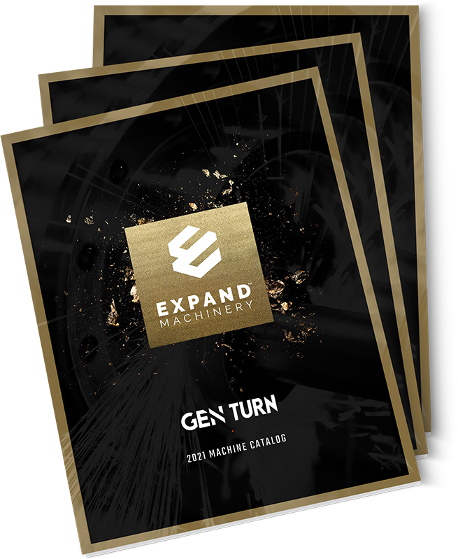 Stack of Expand Machinery catalogs for GENTURN machines